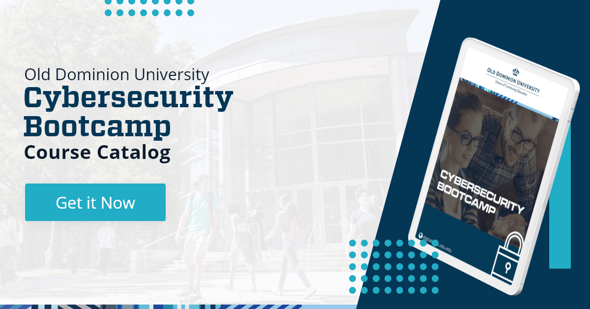 Download the course catalog for the ODU Cybersecurity Bootcamp